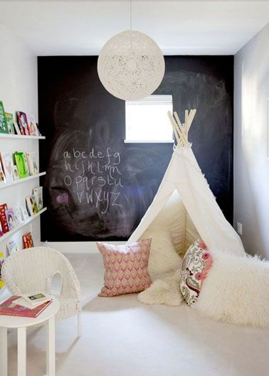 Development and fun decor in the children's playroom