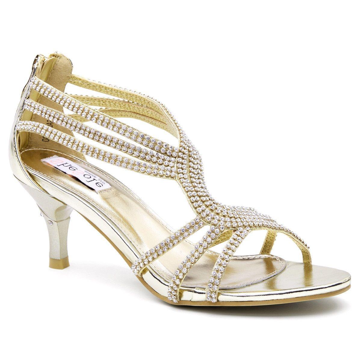 Bridal Sandals Wedding Kitten Heel Shoes Gold Heels Vintage Lace Weddings Dresses Mid Best Gifts Low