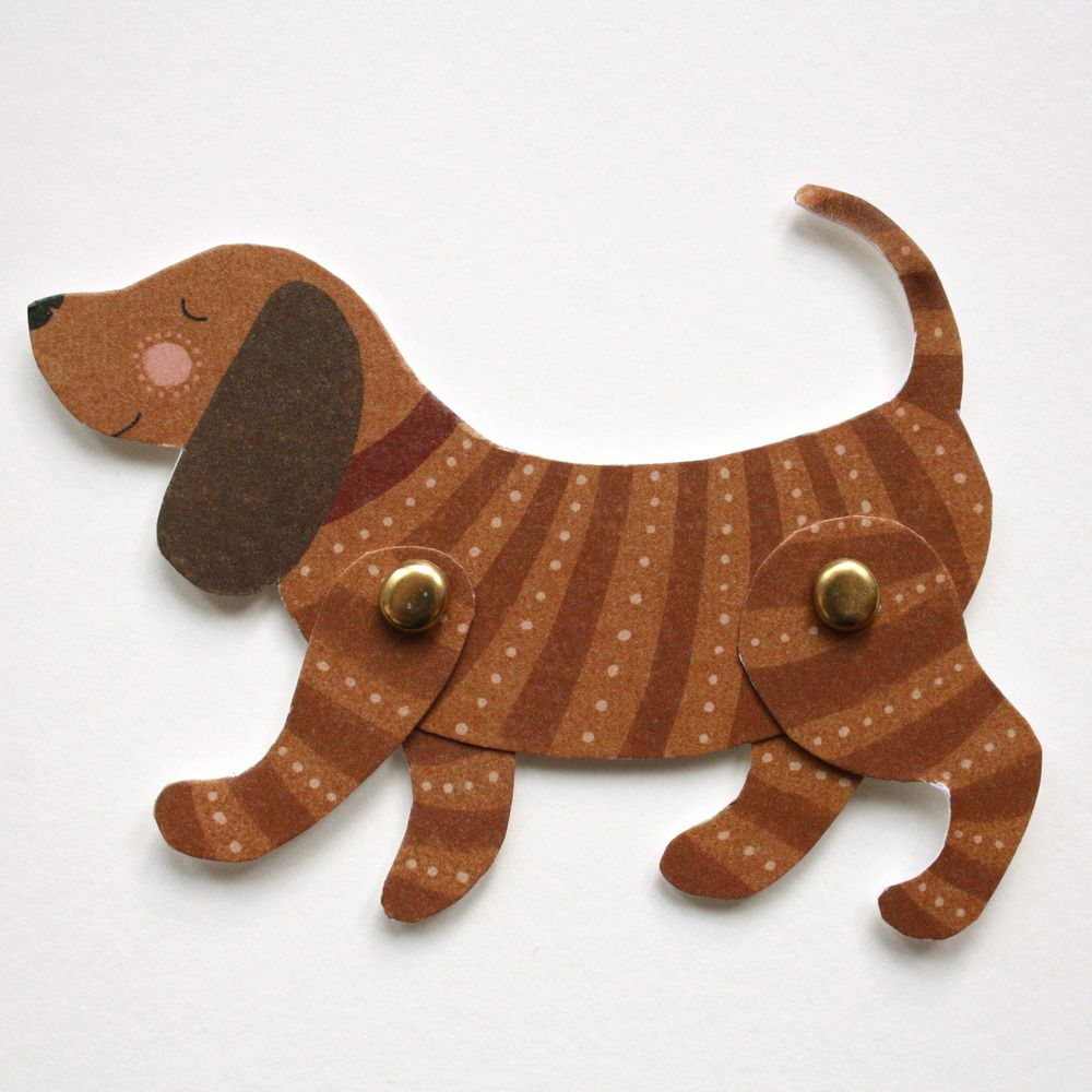Alice Melvin — Cut Out and Make Dog Puppet Card