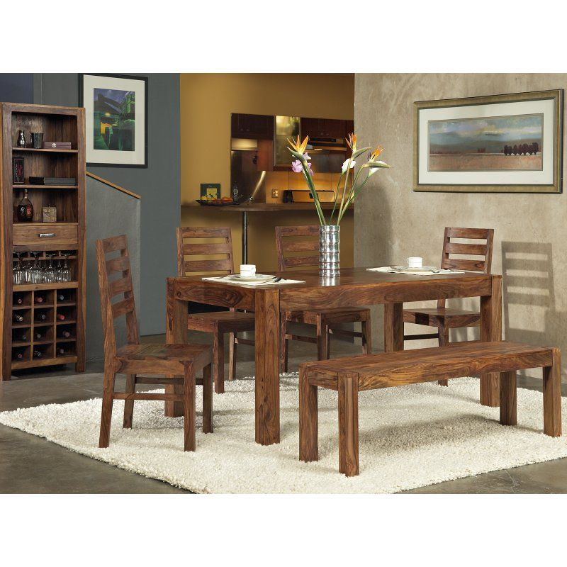 Modus Genus 6 Piece Dining Table Set with Bench - MOD868-1