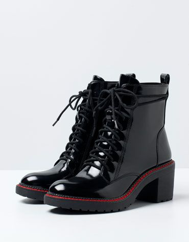 BSK lace-up heeled ankle boots | Botas