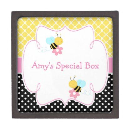 Cute Girl Busy Bees Jewelry Box - girl gifts special unique diy gift idea