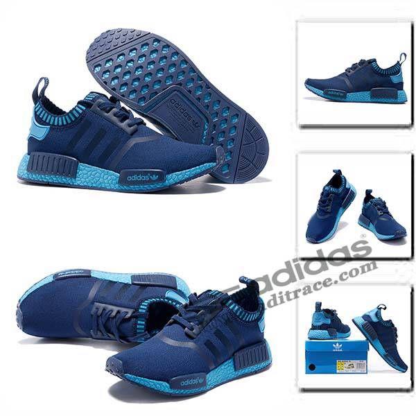 Bleu Marine Chaussure Nouvelle r1 Adidas Primeknit Homme Nmd xPOqwYO801