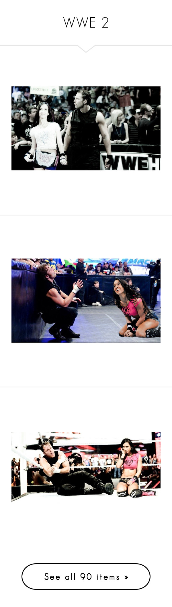 """""""WWE 2"""" by jamiehemmings19 ❤ liked on Polyvore featuring home, home decor, wwe, gas jeans, manip, manips, paige, tops and shirt top"""