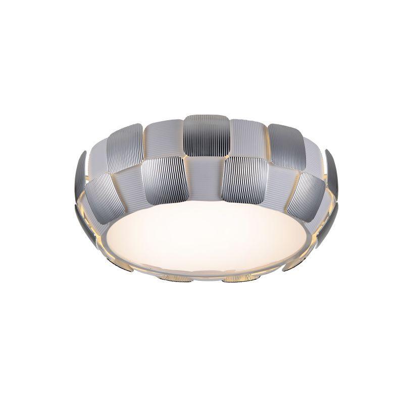 "Access Lighting 50901LED 1 Light 18"" Wide LED Flush Mount Ceiling Fixture from t White / Chrome Indoor Lighting Ceiling Fixtures Flush Mount"