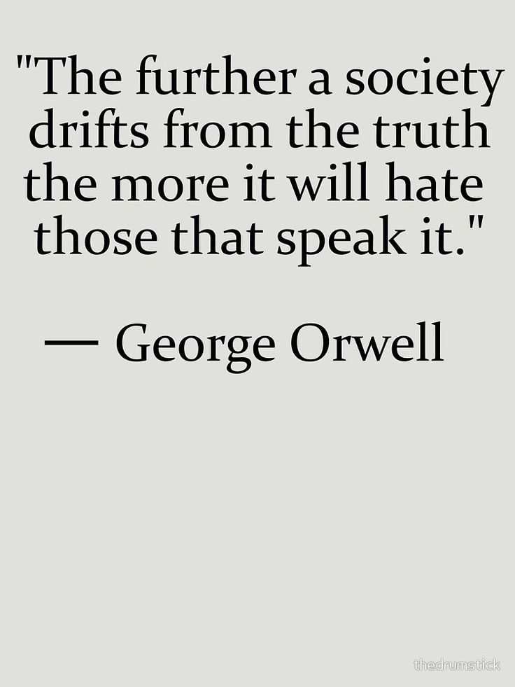 Truth quote by George Orwell Essential T-Shirt by thedrumstick