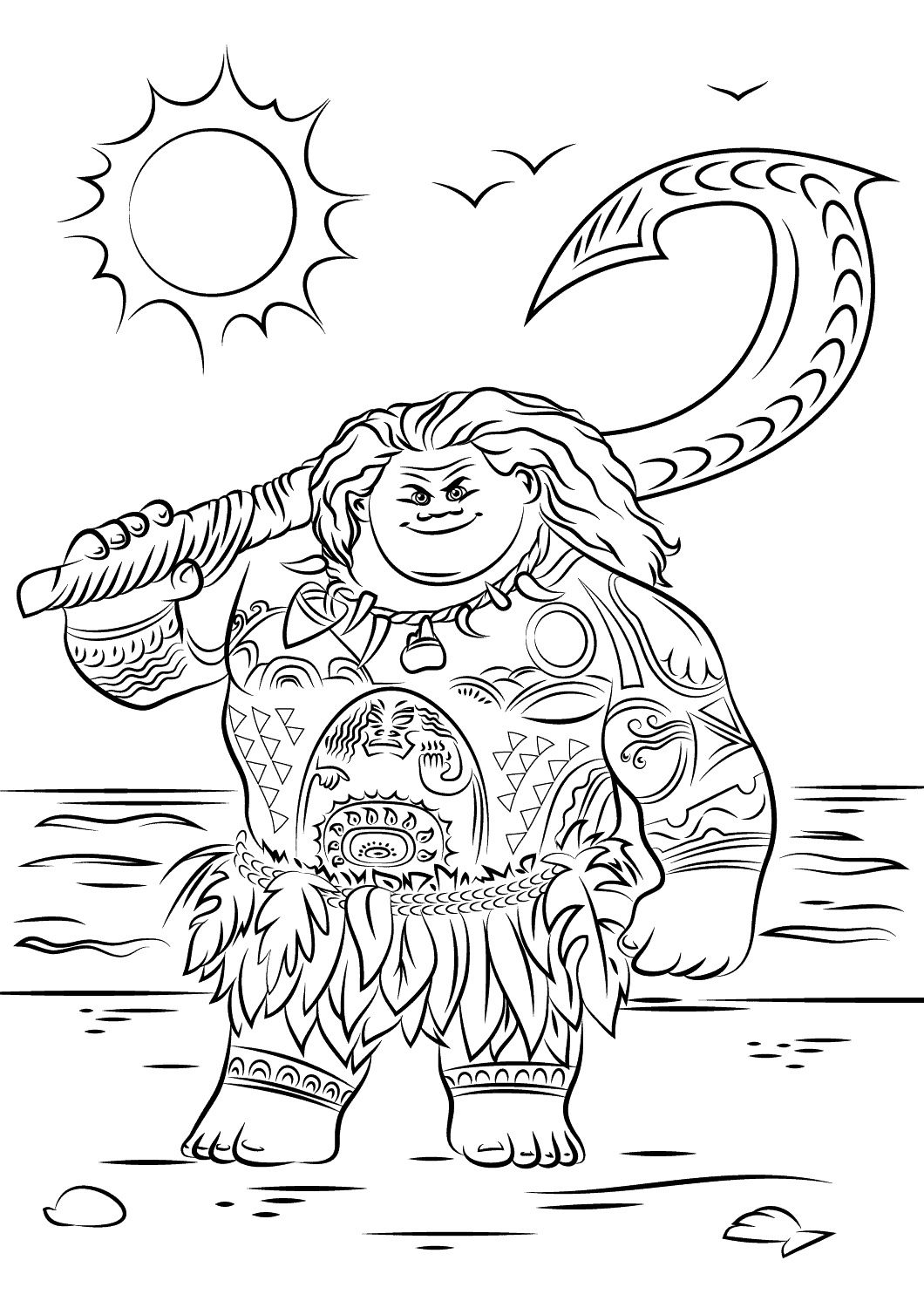 Printable Moana Coloring Pages With Images Moana Coloring
