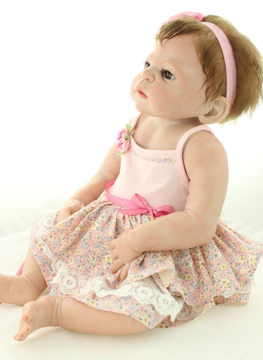 23 polegadas Boneca Da Vida Real com Kits de Silicone Realista Bebê Reborn  Brinquedos Presentes para Crianças Coleção Mulheres À Prova D  Água em  Bonecas de ... b8af1abf6a