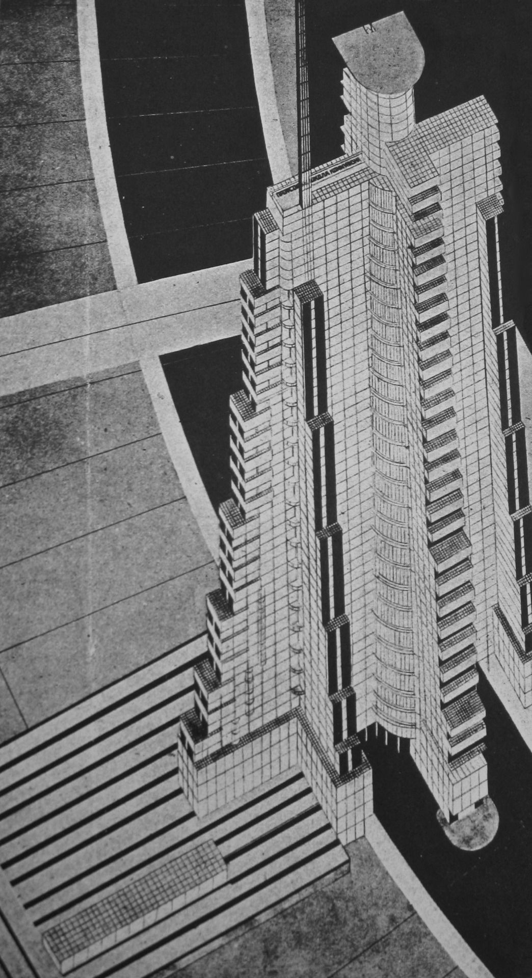 The Charnel House Nikolai Krasil Nikov New City 1928 Via Architecture Drawing Brutalist Architecture Architecture Drawings