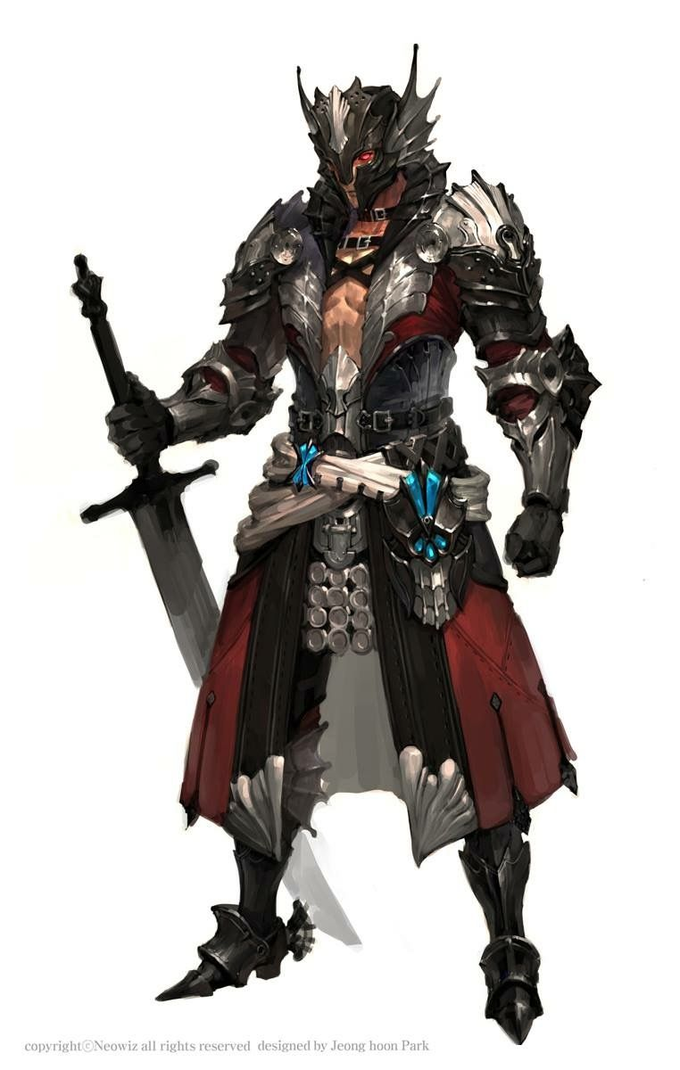Dragon Knight Evil Knight Concept Art Characters Fantasy Character Design The most common dragon knight armor material is metal. dragon knight evil knight concept