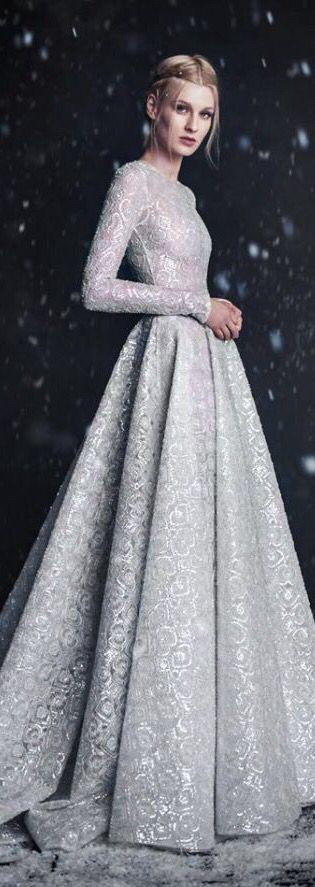Ein Traum von #Hochzeitskleid für den #Winter2016: Paolo Sebastian ...