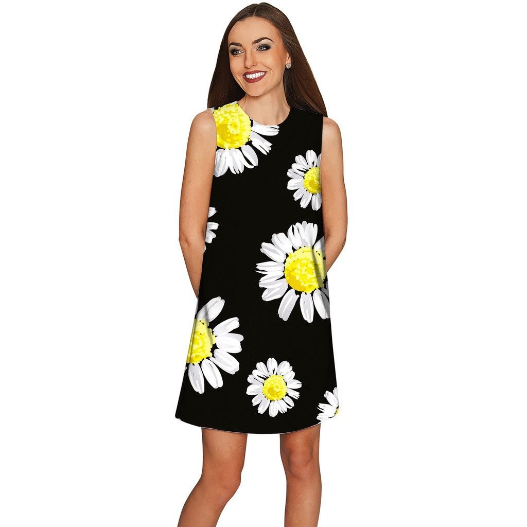 649a968fcf3 Oopsy Daisy Adele Floral Black Party Shift Dress - Women