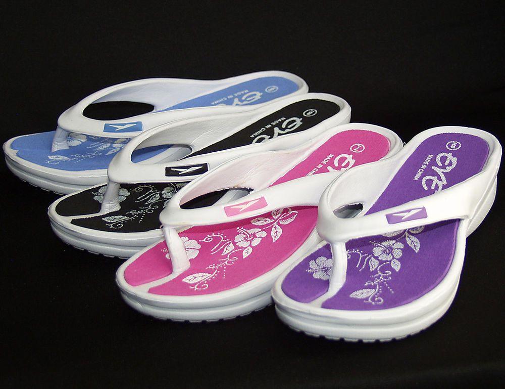 2d81020b2a73e New Women s EVE Flip Flops Sport Sandals Beach Casual Shoes Heel 1