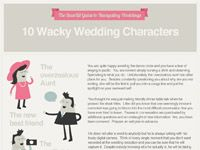 10 Wacky Wedding Characters [INFOGRAPHIC] - Cool Daily Infographics   Visual Knowledge