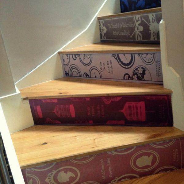 Treppen Verschönern 20 tolle dekorationsideen mit büchern i books