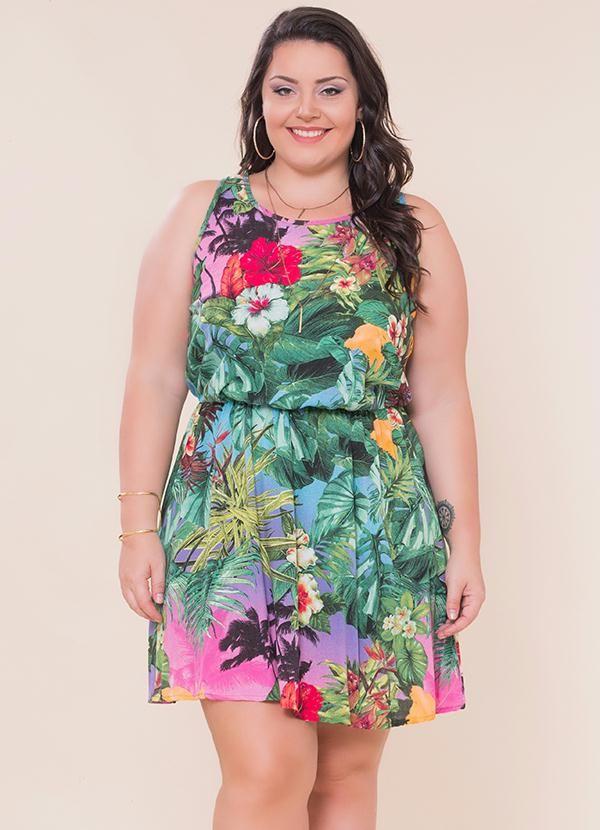 c294b3e7b Vestido Estampado Verde Miss Masy - Posthaus Curvy Fashion, Plus Size  Fashion, Kitenge,