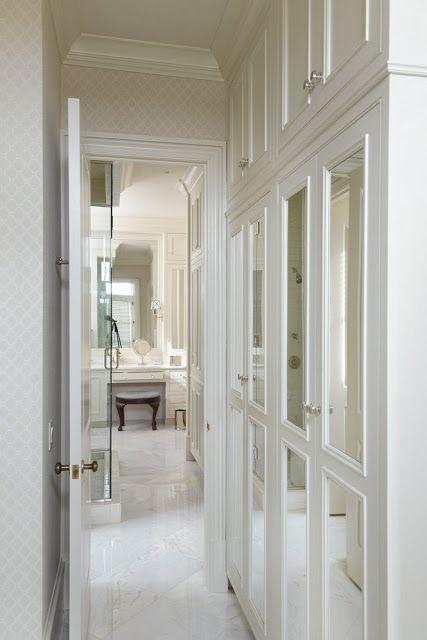 Mirrored doors closets dressing rooms pinterest - Armario pasillo ...