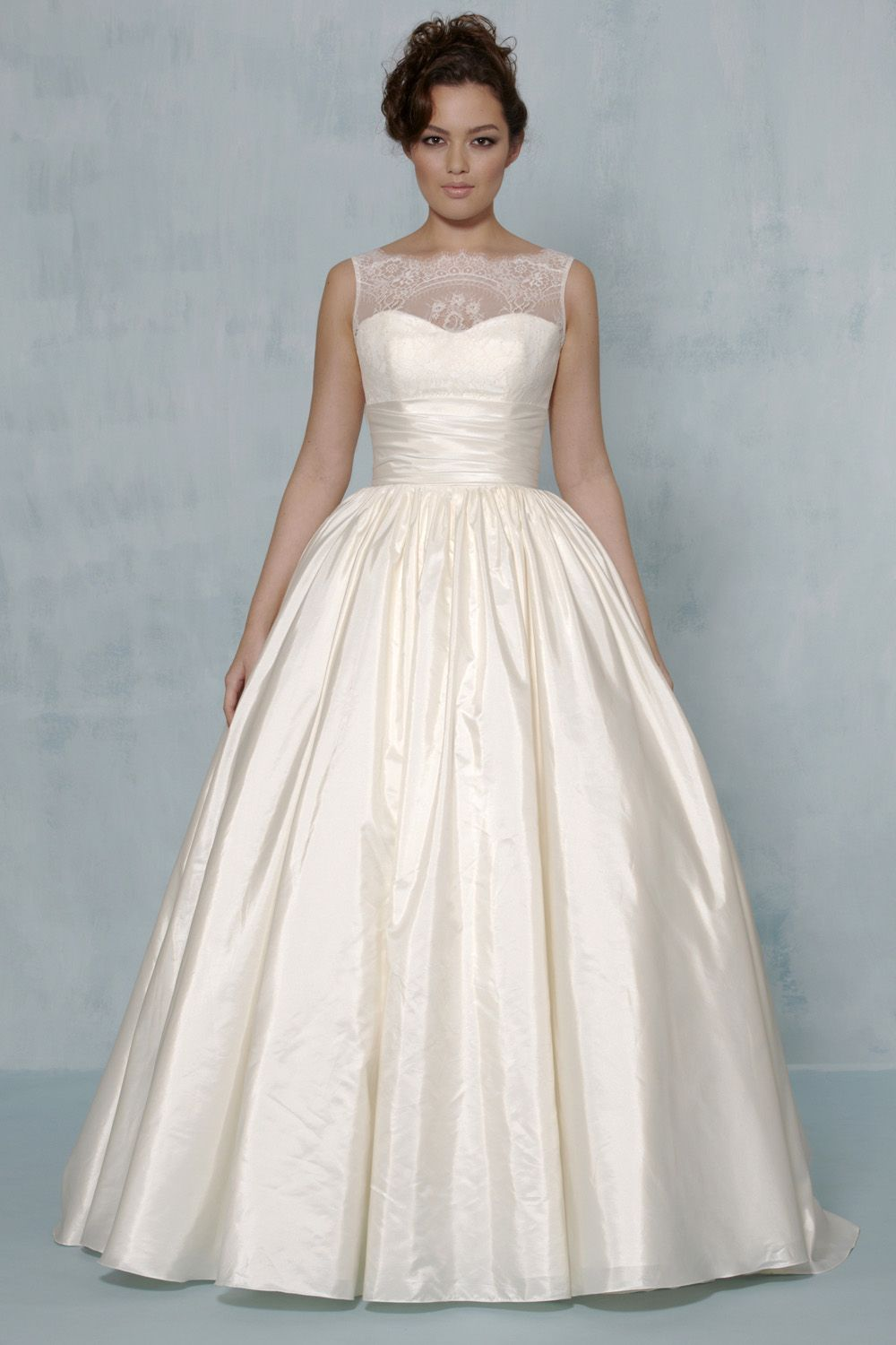 Paz, lace and taffeta ballgown, by Augusta Jones Available at Ava ...