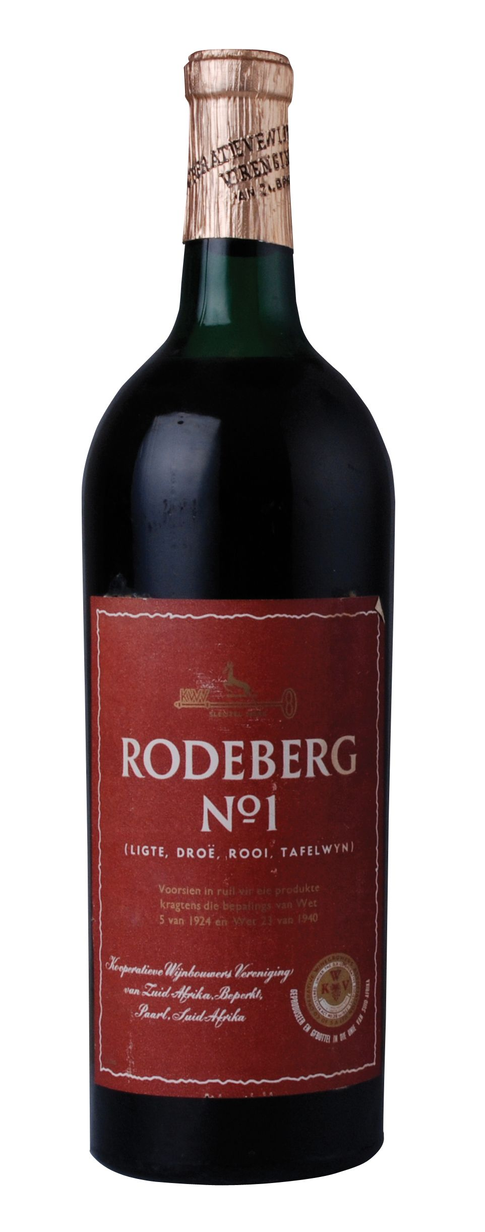 Roodeberg No1 South African Wine Bottle Label Design Water Recipes