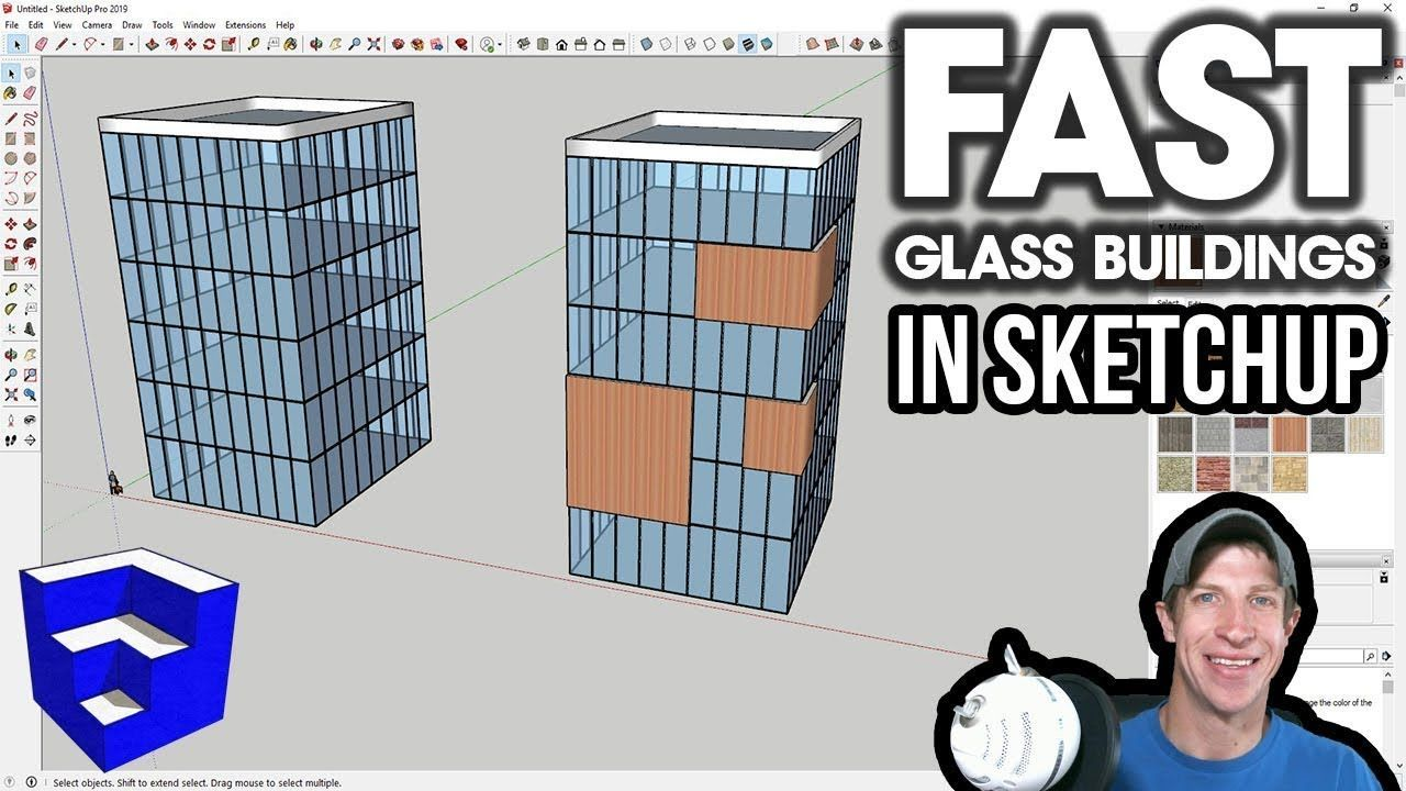 Quick Glass Buildings In Sketchup With Curviloft And Lattice Maker