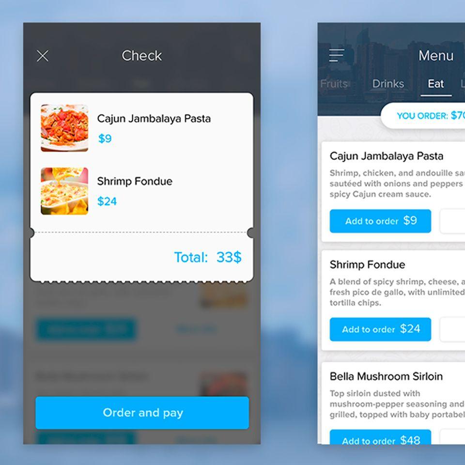 Restaurant food menu mobile app ui free psd ux
