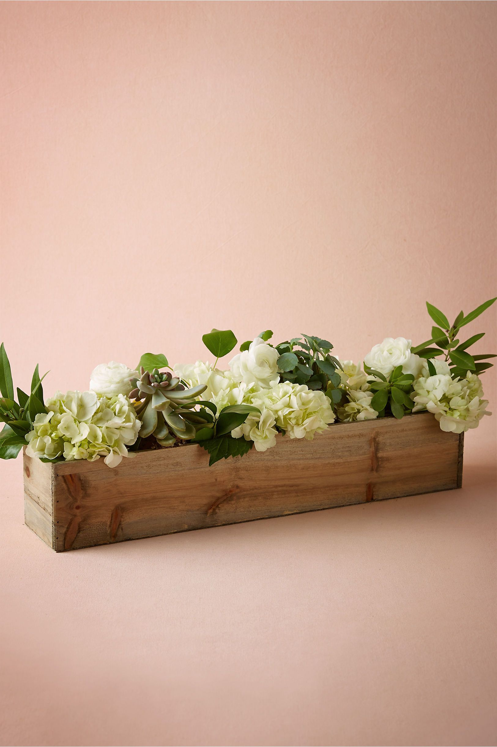 Wooden box planters from bhldn love the idea of