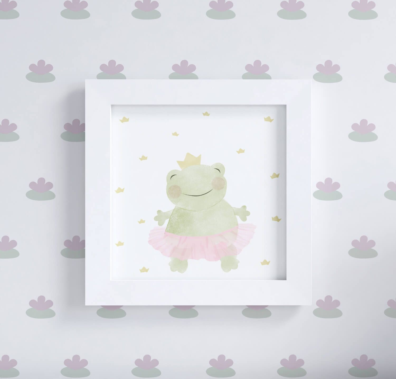 f8e817a775 O Quadro Sapinha Princesa Floral Monet vai completar a decoração do quarto  infantil com muito charme