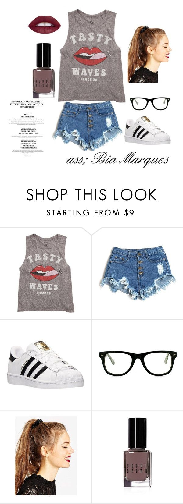 """LOOK VERÃO 2016"" by biia-marques on Polyvore featuring Billabong, adidas, Muse, ASOS e Bobbi Brown Cosmetics"