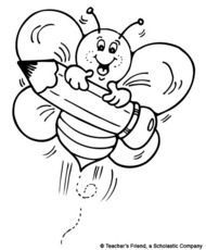 Slikovni rezultat za bee classroom black and white clipart