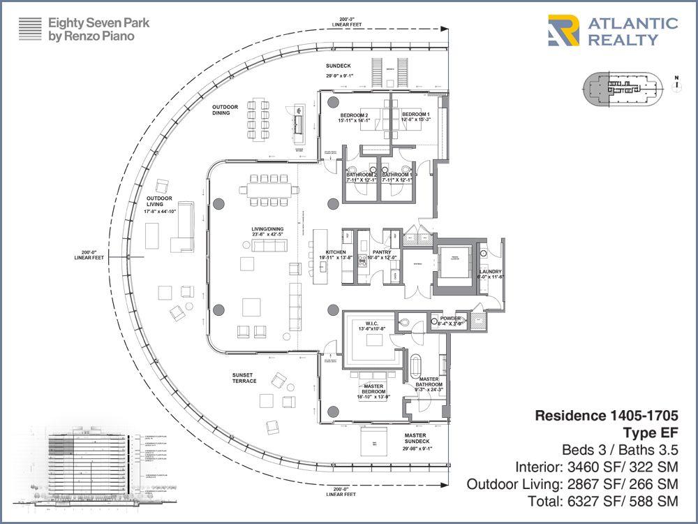 Eighty Seven Park By Renzo Piano New Miami Florida Beach Homes Condo Floor Plans Renzo Piano Craftsman Floor Plans