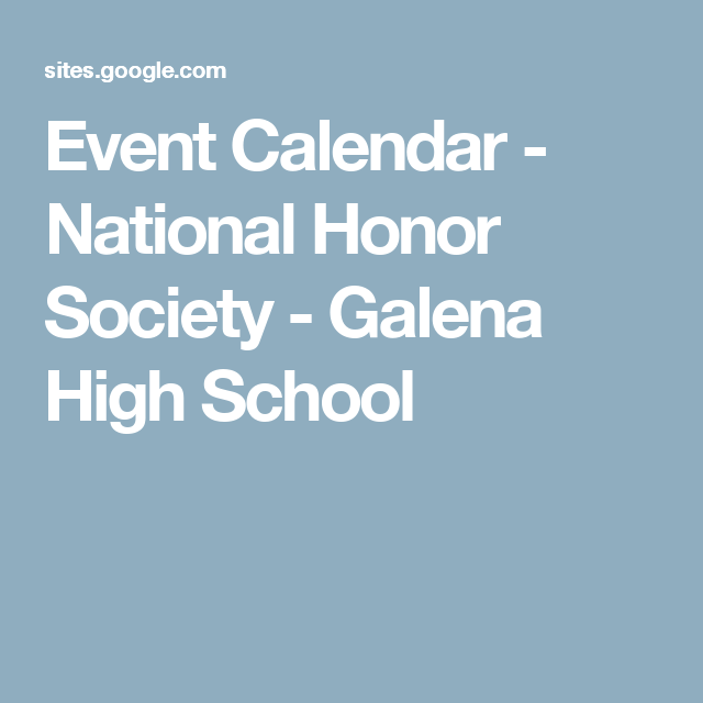 national junior honor society google search mb njhs  event calendar national honor society galena high school