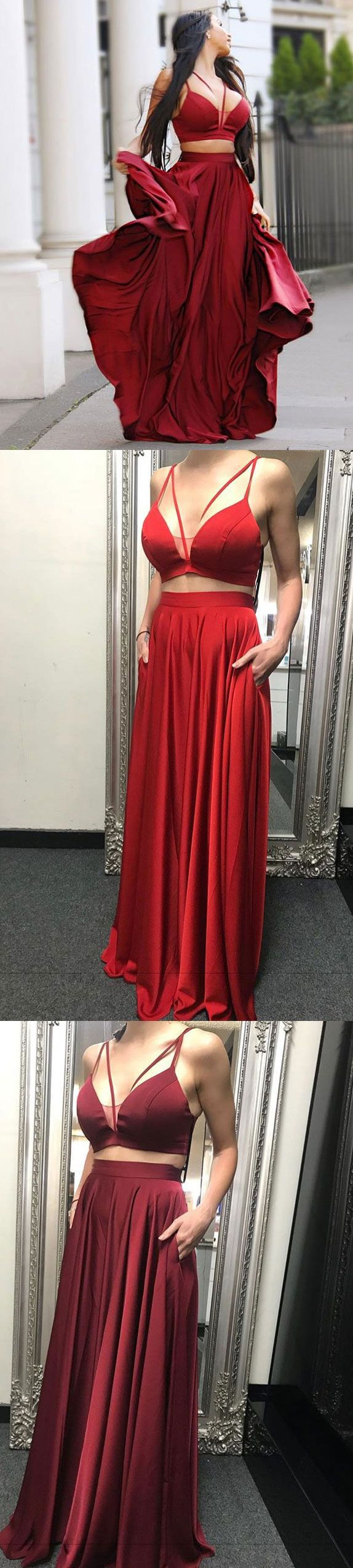 Sexy two piece black prom dresses for women in sexy piece