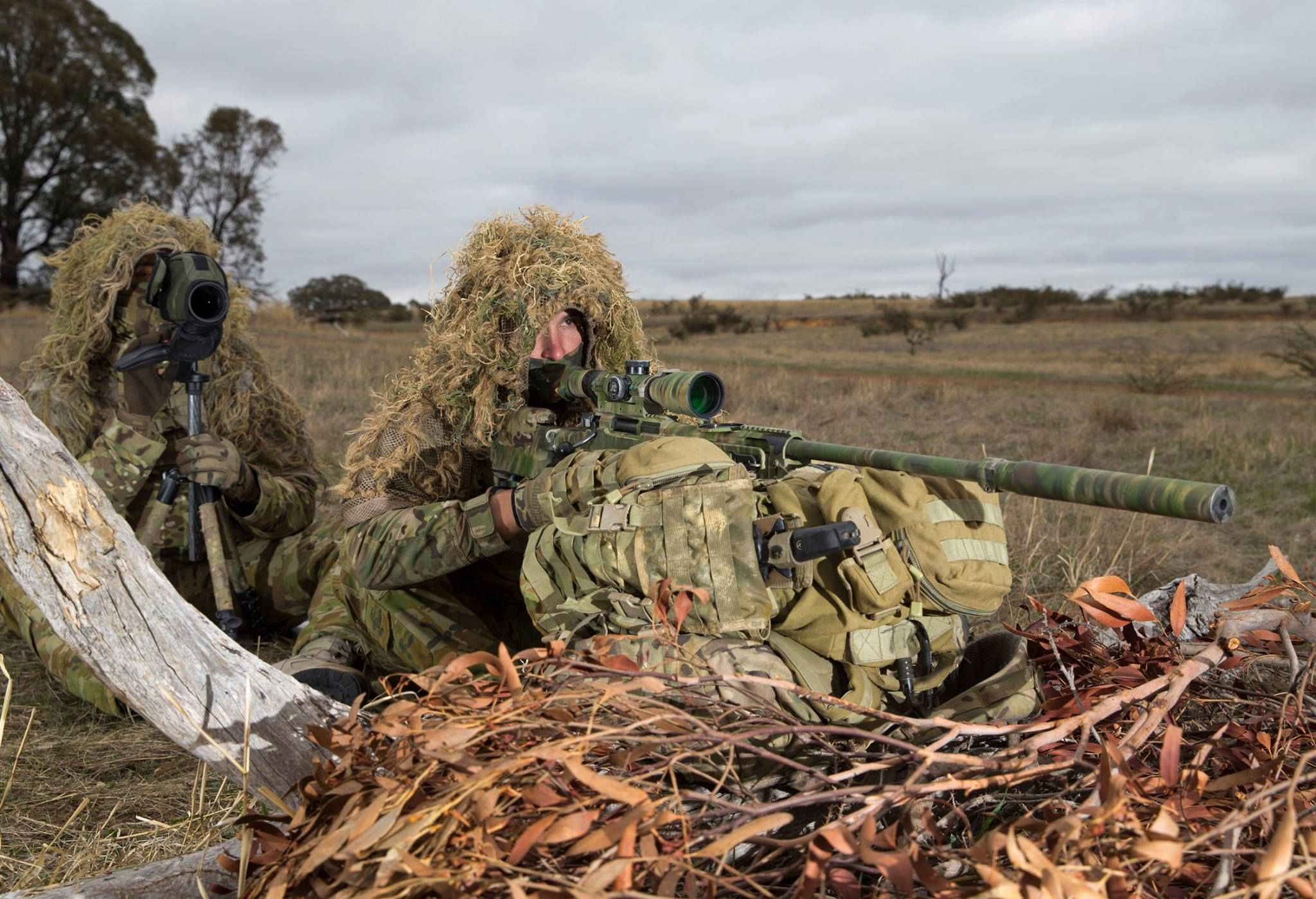 Snipers from 2nd Battalion, Royal Australian Regiment, on the snap match  range during the