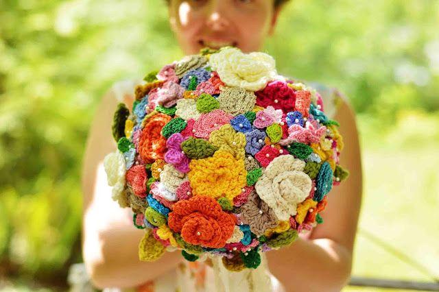 Ein Brautstrauß, der nie verwelkt :-) | Häkeln - Inspirationen ...