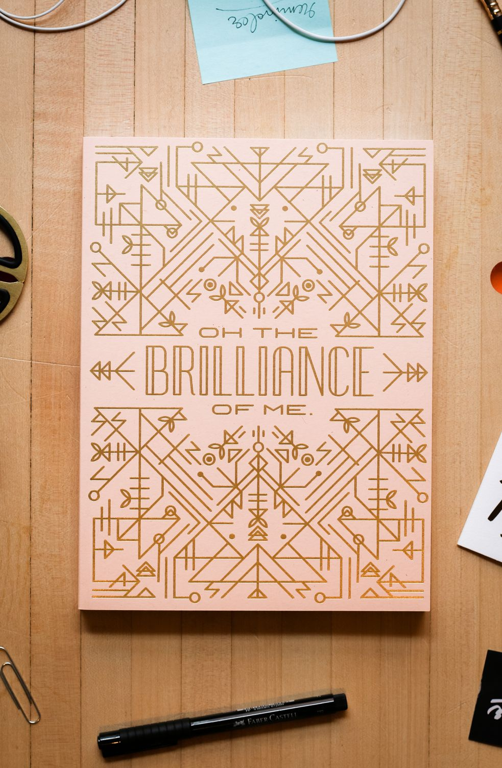 Easy tiger gold foil notebook notebook design diy book