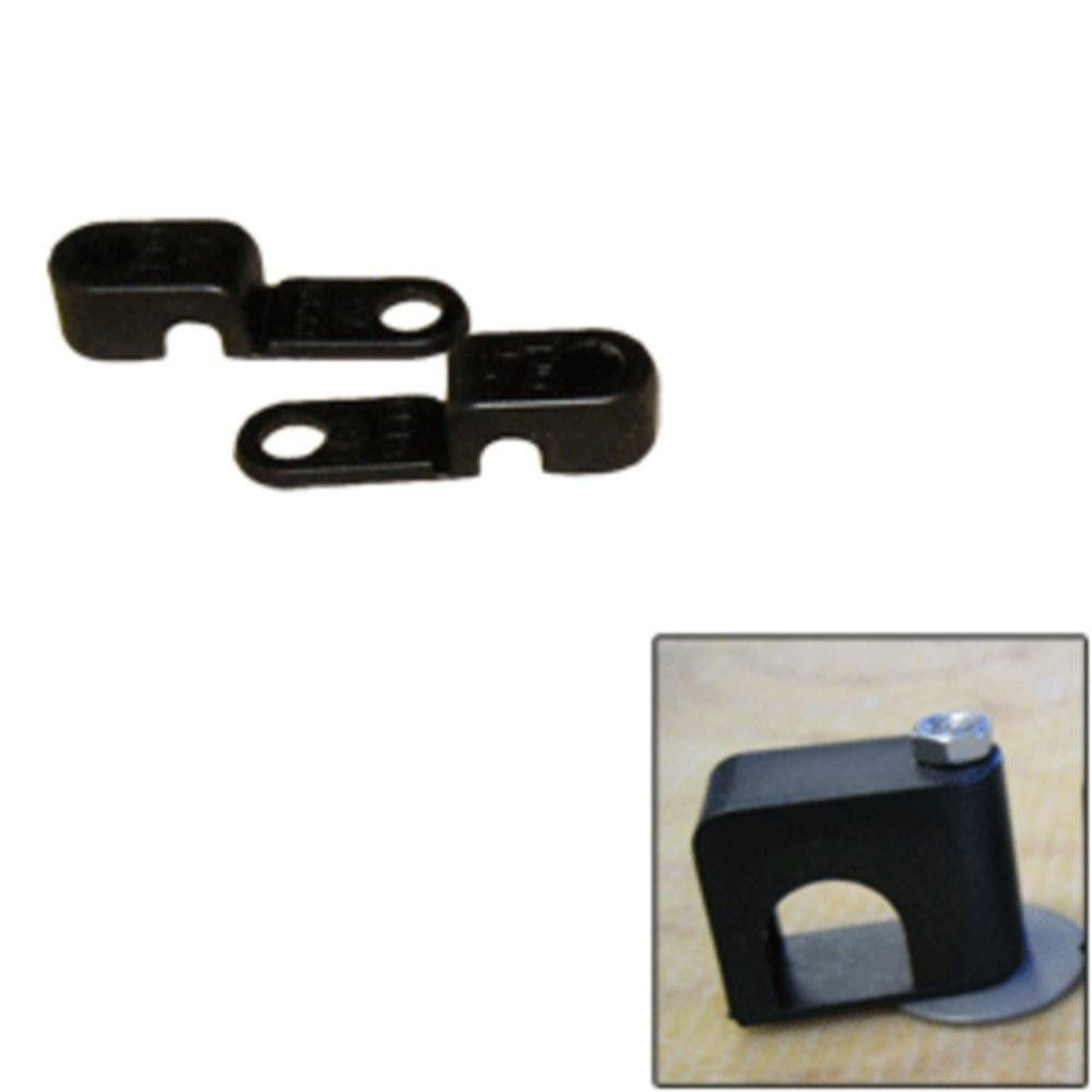 Weld Mount Single Poly Clamp f-1-4 x 20 Studs - 1-4 OD - Requires 0.75 Stud - Qty. 25
