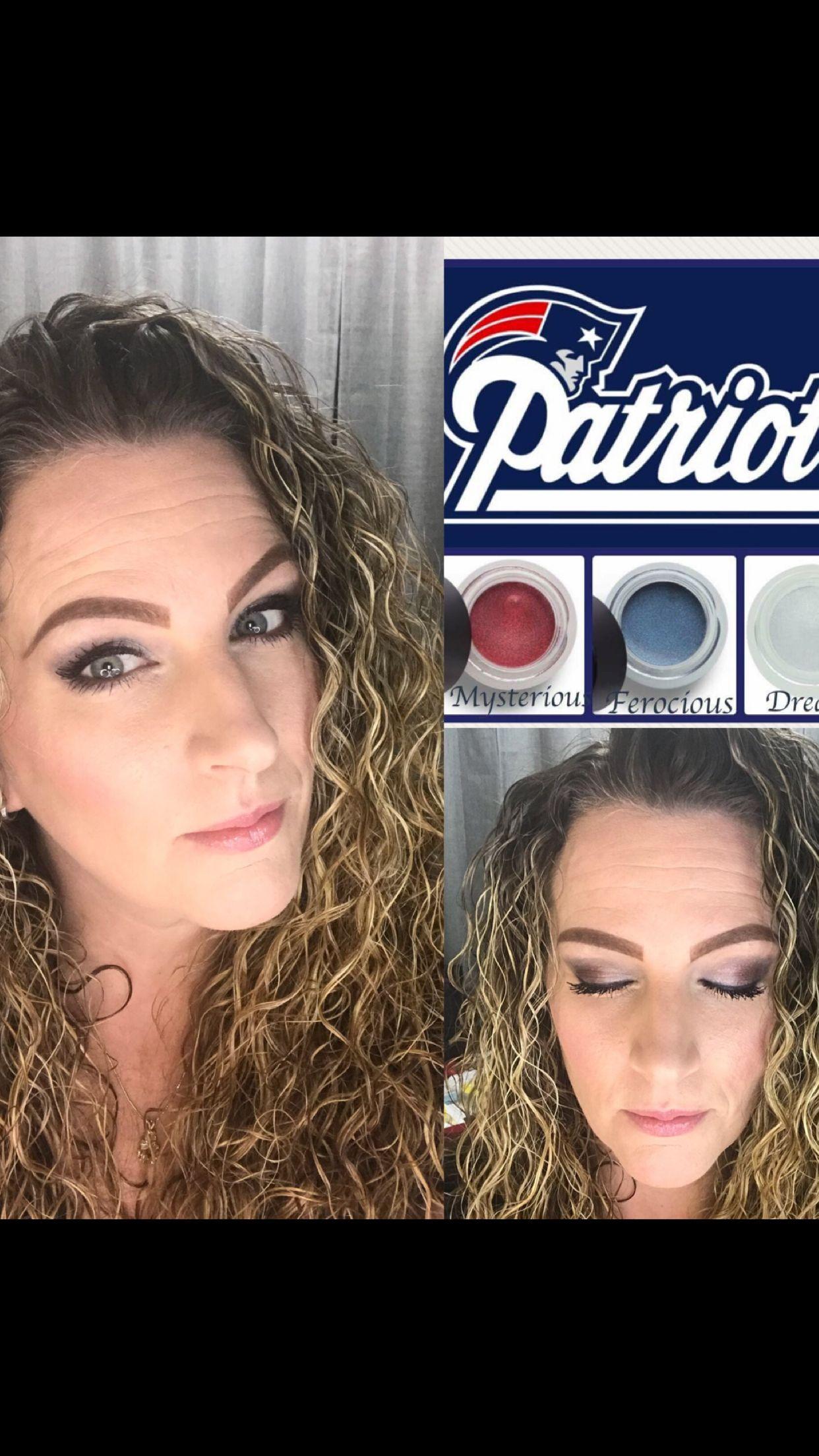 Patriot fans makeup look for the big game! Super Bowl 2018