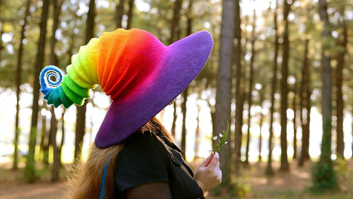 sosuperawesome Felt Witch Hats from the