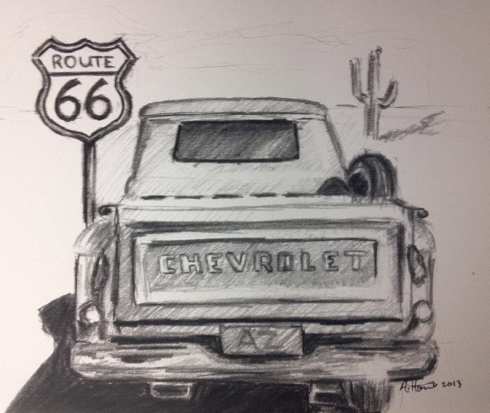 pencil drawings of old trucks - Google Search | Drawings | Pinterest ...