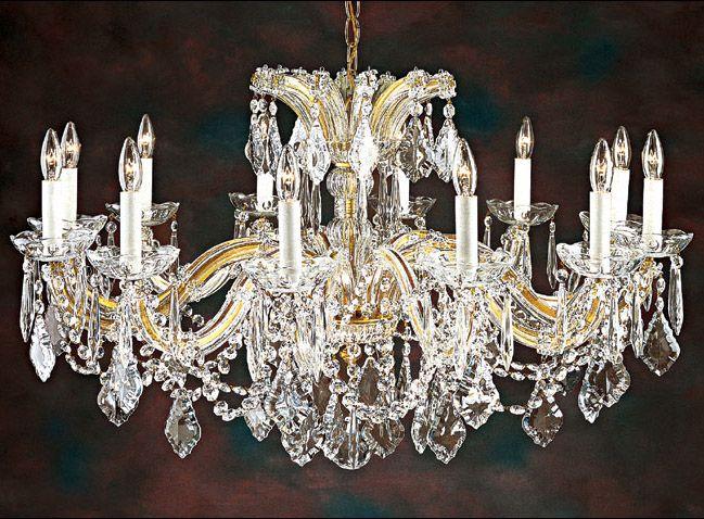 Maria Theresa Crystal Chandelier For Low Ceilings Studios