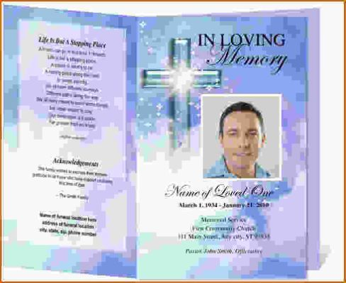 Templates Memorial Cards For Funerals  Sorrow    Template