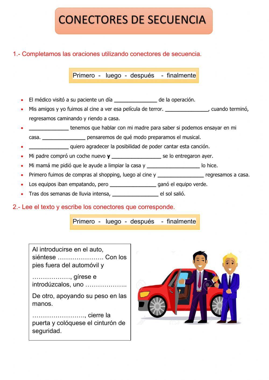 Conectores De Secuencia Ficha Interactiva Estrategias De Ensenanza Razonamiento Verbal Actividades Para Clase De Espanol