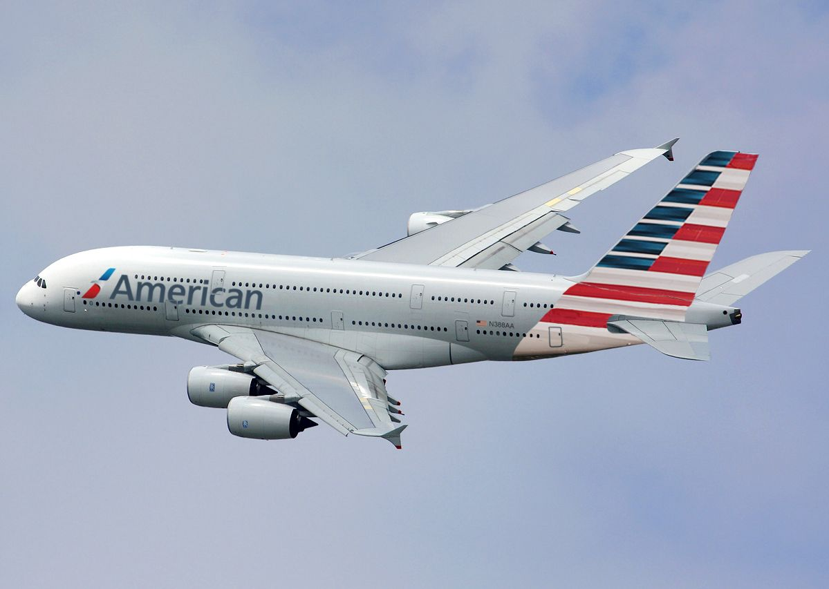American Airlines New Livery on Airbus A380 | American