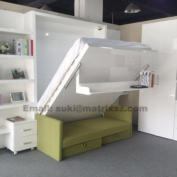 Source space saving hidden wall bed,folding wall bed,space ...