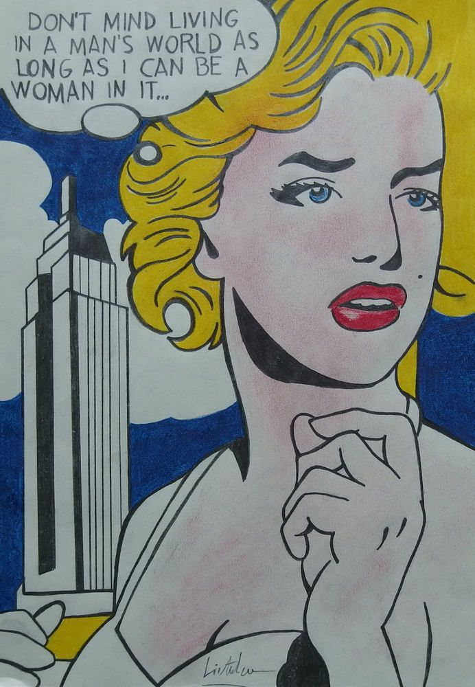 Pop Art Painting Original Media Roy Lichtenstein Signed W Coa Andy Warhol Era Popart Pop Art Painting Pop Art Art