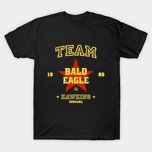 Team Bald Eagles - Stranger Things T-Shirt - The Shirt List