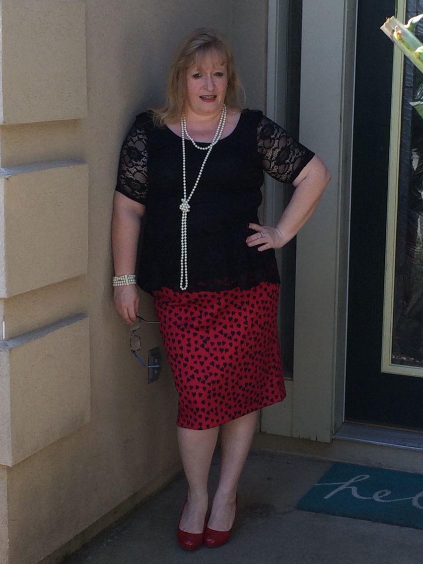 @eloquii skirt and @ftfsnaps #xoq