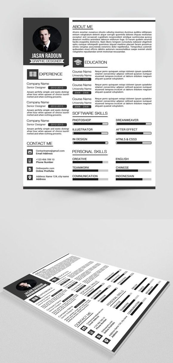 Check out Resume template by sismic on Creative Market Work