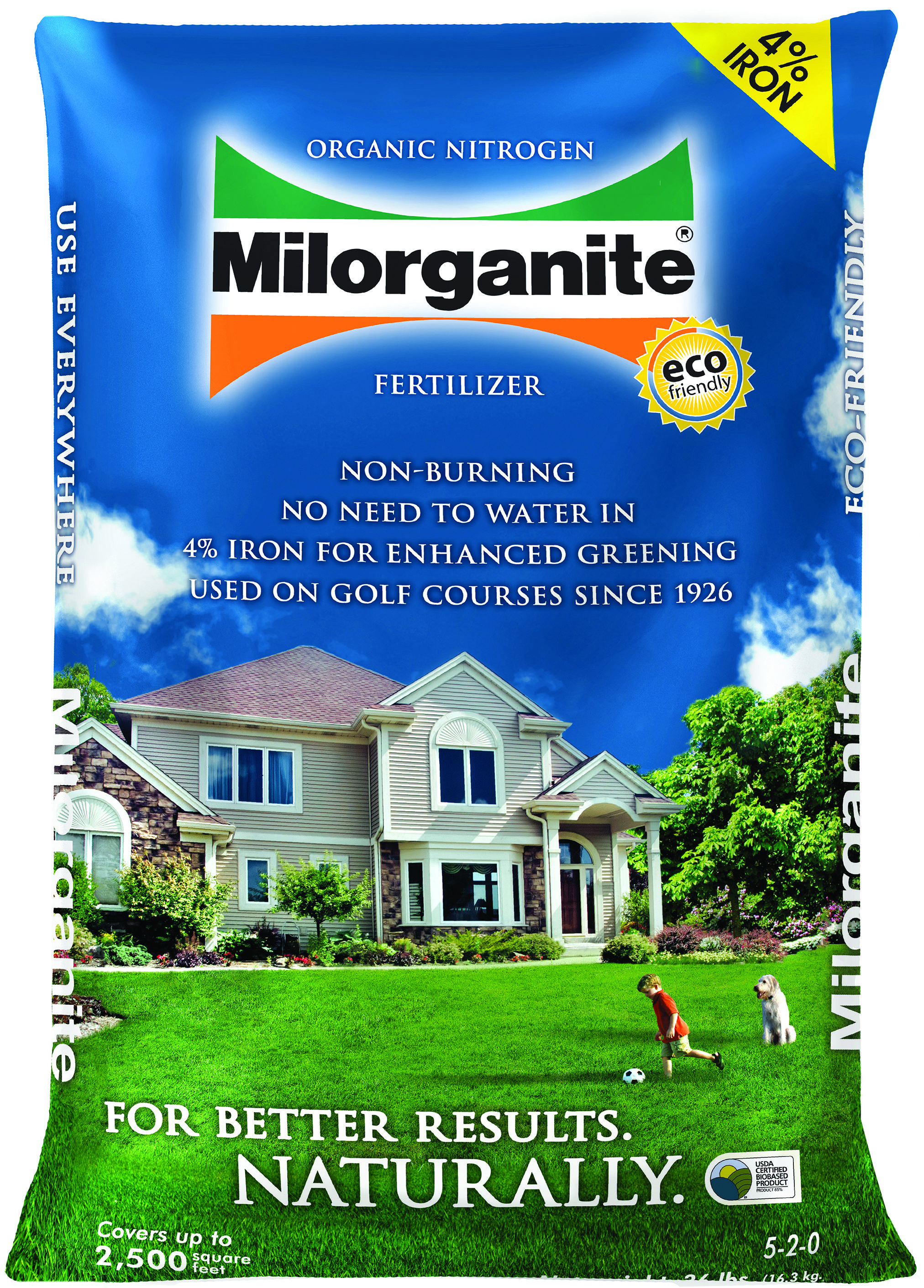 Milorganite W 4 Fe 5 2 0 36lb 56 Per Pallet Eco Friendly Non Burning Milorganite Contains Organic Slow Rel Milorganite Milorganite Lawn Lawn Fertilizer