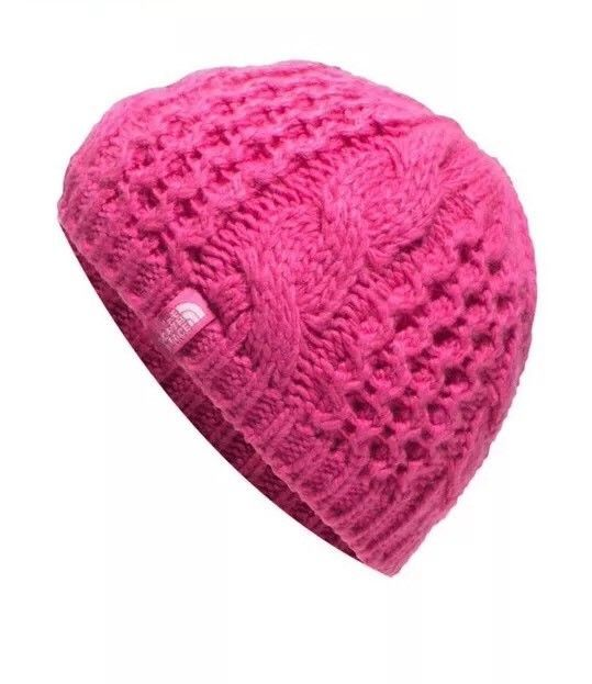 fb0ca4a19a1 The North Face Youth Cable Minna Knit Beanie Hat Cabaret Pink Size M ...